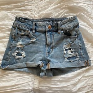 American Eagle Outfitters High Waisted Jean Shorts